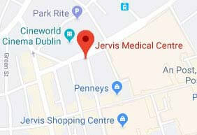 Link to Google Map to Jervis Medical walk-in GP Dublin 1